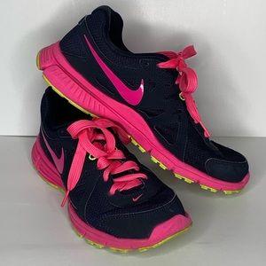 Nike Revolution 2 Navy Blue & Pink Sz 8
